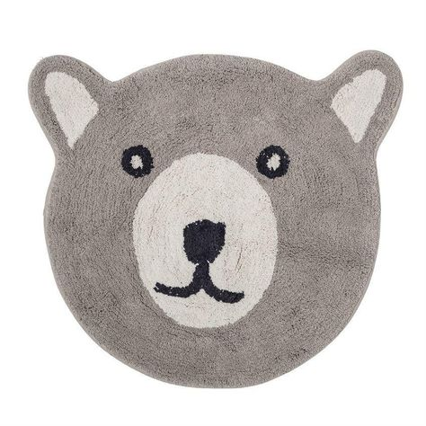 Cotton Bear Shaped Rug With Face In