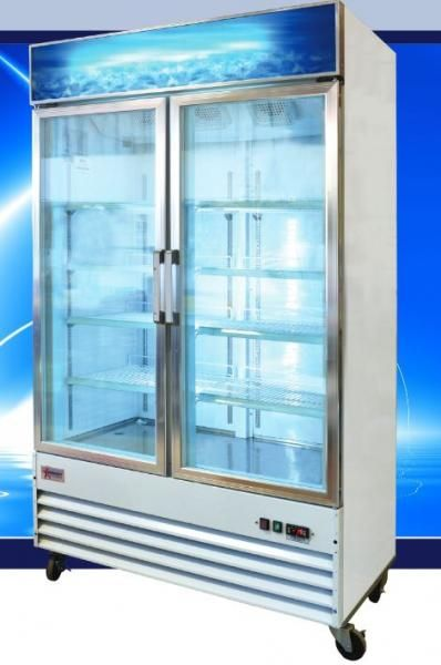 Omcan 25cf 2 Glass Door Commercial Freezer Premium Edition Reliabuy Com Commercial Freezer Glass Door Locker Storage