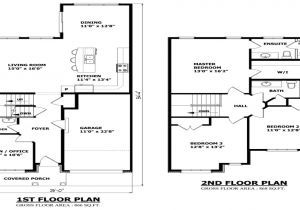 2 Story House Floor Plans With Measurements Modern 2 Story Home Floor Plans Floor Plans Story House House Flooring