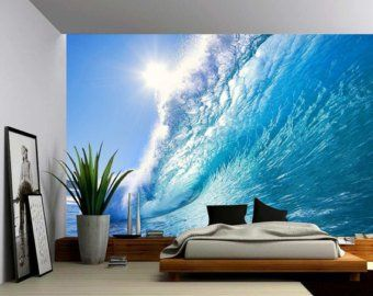 Sunset Sea Ocean Wave Large Wall Mural Self Adhesive Vinyl Large Wall Murals Wall Murals Fabric Wall Decals