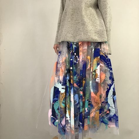 Tiff Manuell Hand Painted Tulle Skirt