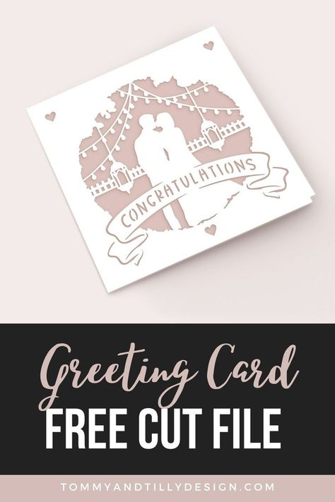 FREE Cricut Card – Perfect for Weddings & Engagements