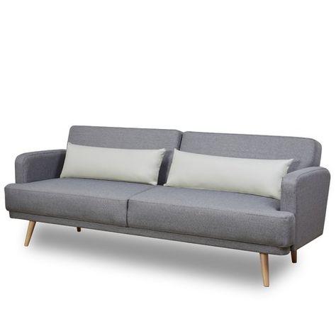 Hykkon Cochrane 3 Seater Clic Clac Sofa Bed Sofa Leather Sofa