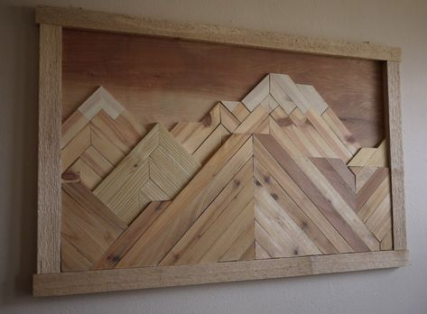 Tried My Hand At The Wood Mountain Wall Art Project Long S Peak Reddit Woodworking Projects Woodworking Mountain Wall Art Wood Art Projects Decal Wall Art
