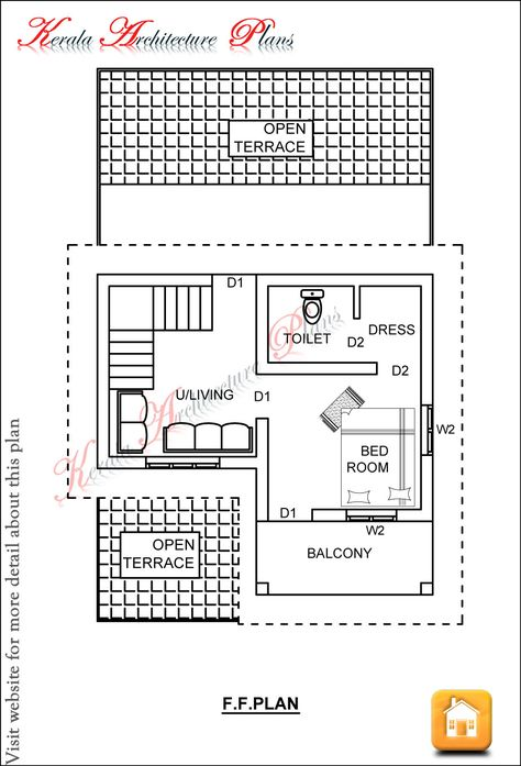 Kerala House Plans 1200 Sq Ft For A 3 Bedroom House18 Lakhs