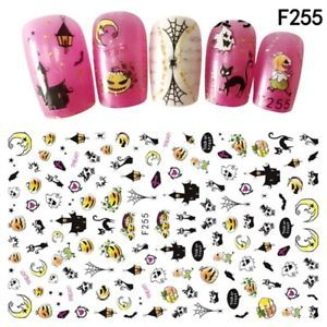9pcs Halloween Fashion Nail Art Mignon Design Sticker Decal Pour Nails Decor Nailcare Nail Manicure Pedicure Nail Art Stickers Nail Stickers Owl Decal