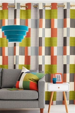 Next Curtains In Grey Orange And Green Beautiful Living Rooms