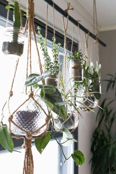 KUKKALA-tie hanging plant to the unused curtain rods!