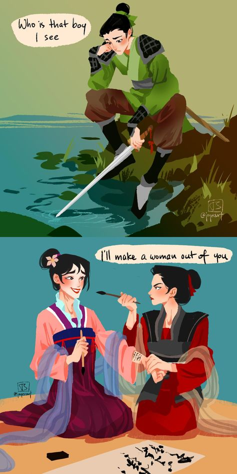 daily doodle as voted by you: alternate version mulan. I'll make a woman out of you ( ͡° ͜ʖ ͡°) daily doodle as voted by you: alternate version mulan. I'll make a woman out of you ( ͡° ͜ʖ ͡°) daily doodle as voted by you: alternate version mulan. Disney Pixar, Disney Animation, Disney Kunst, Disney Fan Art, Disney And Dreamworks, Disney Magic, Disney Movies, Disney Characters, Pixar Movies