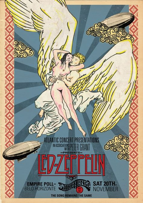Led Zeppelin - Stonehenge Rock Bar - Mini Print