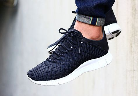 Nike Free Inneva Woven Black & Fountain Blue