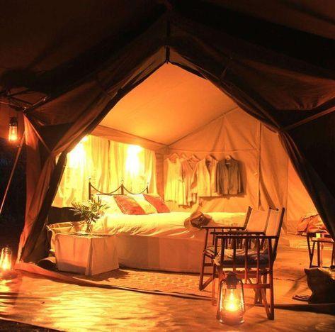camping tent interior ideas