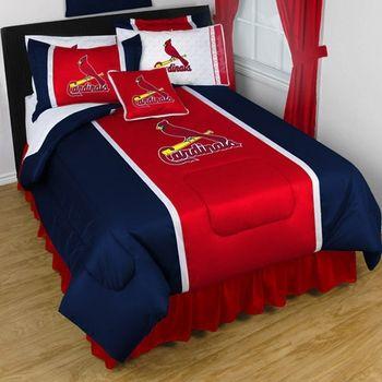 St Louis Cardinals Bedding Sidelines Sports Bedding Baseball