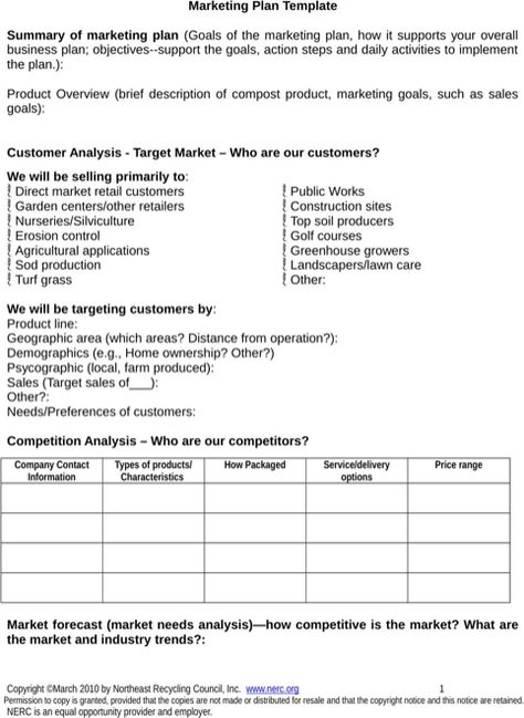 Marketing Plan Template Marketing Strategies Pinterest - business needs assessment template