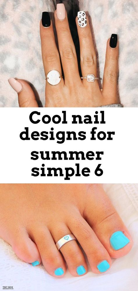 Cool nail designs for summer simple 6