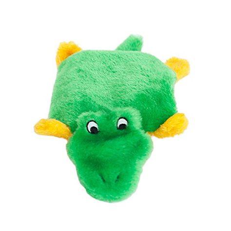 Zippypaws Squeakie Pad Alligator Squeaky No Stuffing Plush Dog Toy