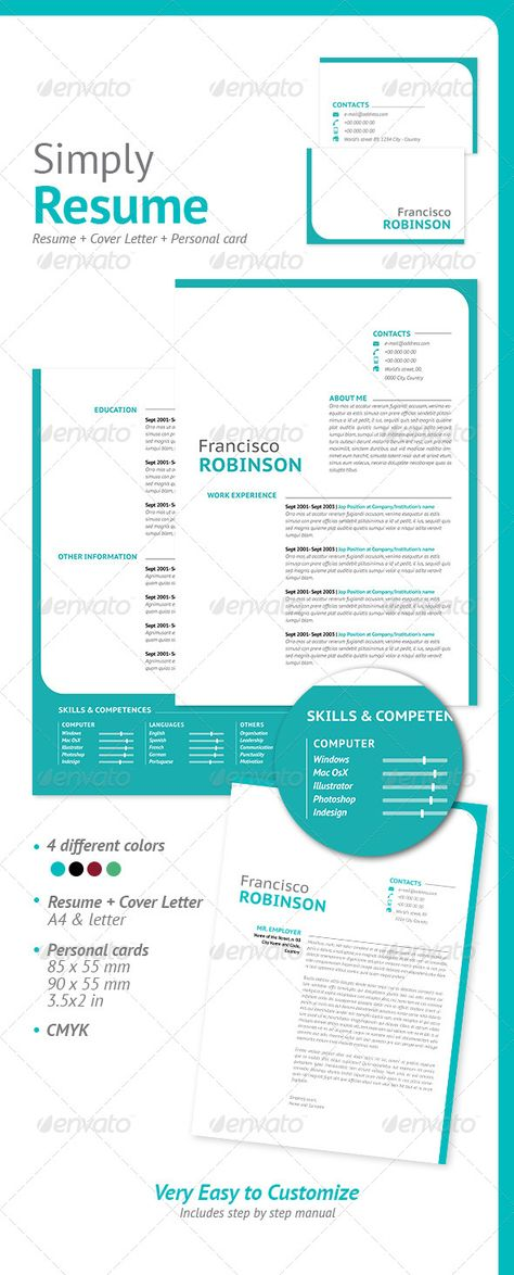 8 best images about Resumes on Pinterest | Adobe photoshop, Fonts ...