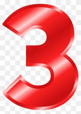 Numero 3 En Color Rojo Clipart Clip Art Color Hexagon