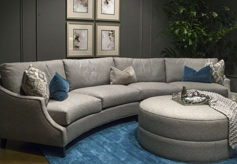 4 Design Trends We Love From High Point Market | Curved sofa ...