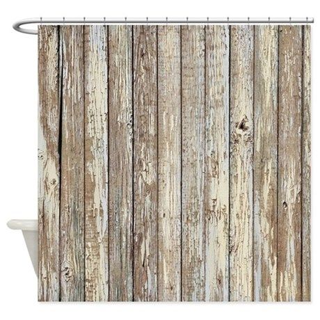 Shabby Chic White Barn Wood Shower Curtain By Focusedonyou In 2020