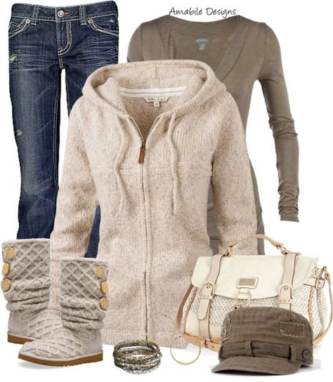 """It is COLD outside today :o( more snow in CO"" by amabiledesigns on Polyvore ~ sure gonna miss my uggs this summer!!"
