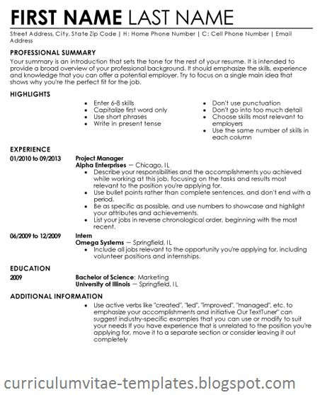 Free Blanks Resumes Templates Free Blank Resumeexamples,samples - templates of resumes