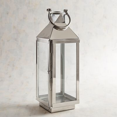 Carter Large Silver Stainless Steel Metal Lantern In 2020 Metal