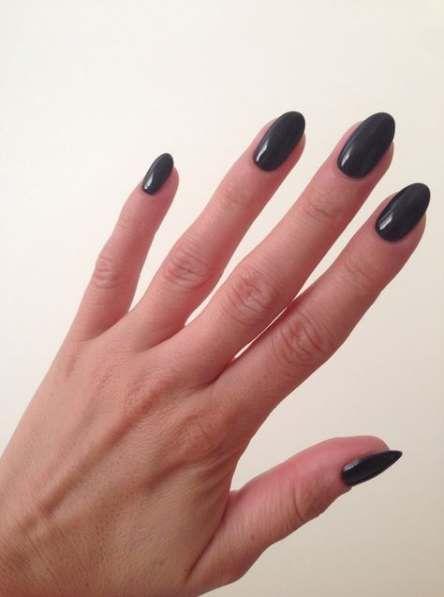68 Ideas Nails Black Acrylic Almond Black Almond Nails Black Nails Short Acrylic Nails