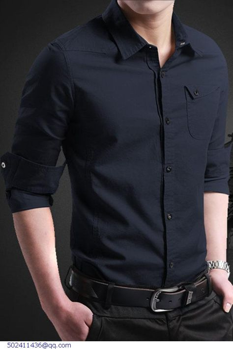75ee4bc881ab US $67.5 |2015 Fashion Quality Men Long Sleeve Shirt 100% Plain Cotton 6  Color Shirts Casual Male Dress Clothes Men's Cothing Camisa 14013-in Casual  Shirts ...