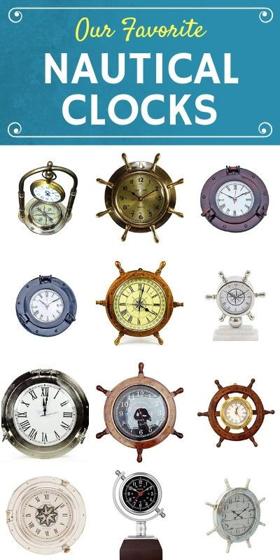 50 Nautical Themed Clocks Check Out The Best Nautical Clocks For Your Beach Home Nautical Clocks Nautical Wall Clock Clock Wall Decor