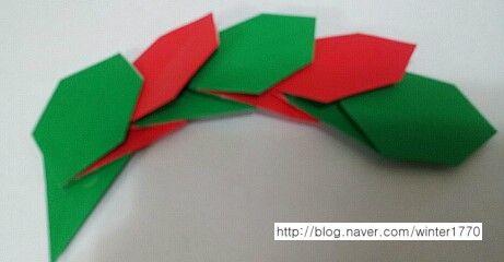 나뭇잎리스 만들기 접기방법 네이버 블로그 종이 접기 별 크리스마스 카드 및 페이퍼크래프트