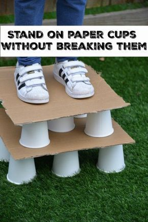 STEM Challenge - Stand on a paper cup withour breaking it