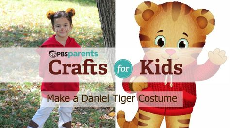 Learn how to make a no-sew Daniel Tiger costume from @Patti Stamp Parents for Halloween!