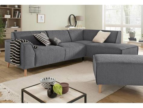 Home Affaire Eck Sofa Julia Grau Stoff Komfortabler Federkern Ho Home Decor Home Couch