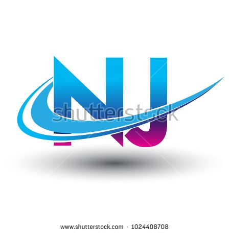 Initial Letter Nj Logotype Company Name Colored Blue And Magenta Swoosh Design Vector Logo For Business And Company Initials Logo Logotype Letter Logo Design