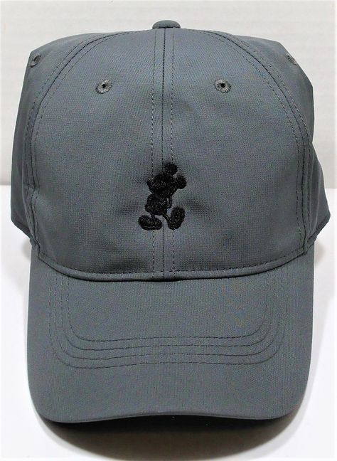 Disney Parks Exclusive Mickey Mouse Grey Nike Dri Fit Baseball Golf Cap Hat  NEW 7ce6cb1c8cf