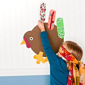 Pin the Feather on the Turkey