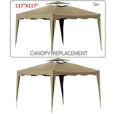 10x10 Gazebo Top Canopy Replacement Patio Pavilion Sunshade Cover Mosquito Net Gazebo Replacement Canopy Gazebo Canopy Gazebo