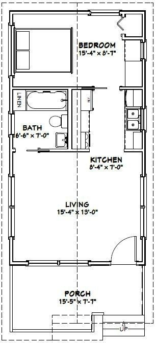 Image Result For Floor Plan 17 X 35 Tiny House Floor Plans Tiny House Plans Plans Tiny