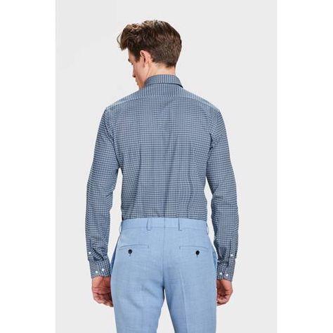 We Overhemd Slim Fit.X Van Gils Slim Fit Overhemd Met All Over Print Blauw In 2019