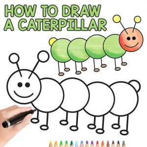 How To Draw A Caterpillar Step By Step Guide For Kids And Beginners Easy Peasy And Fun In 2020 Drawing For Kids Drawing For Beginners Drawing Lessons For Kids