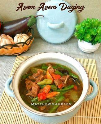 Asem Asem Daging Resep Masakan Resep Daging