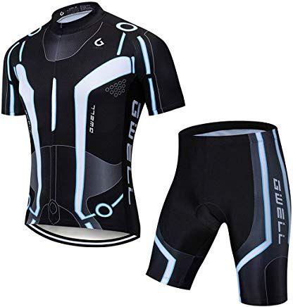 Radhose mit Sitzpolster f/ür Radsport GWELL Damen Radtrikot Atmungsaktive Fahrradbekleidung Set Trikot Kurzarm