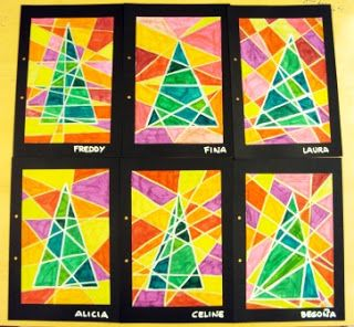 "fun way to do a christmas art project without the usual ""crafts"""