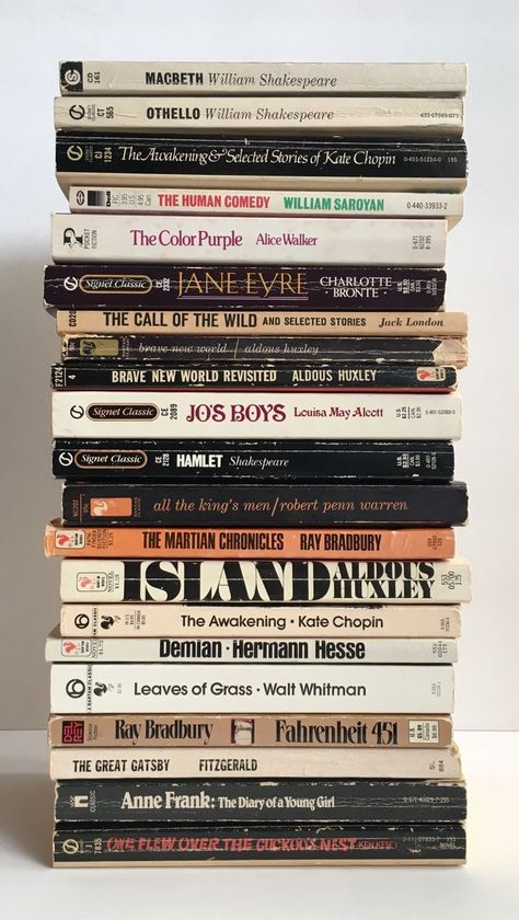 Some classic favourites + future reads