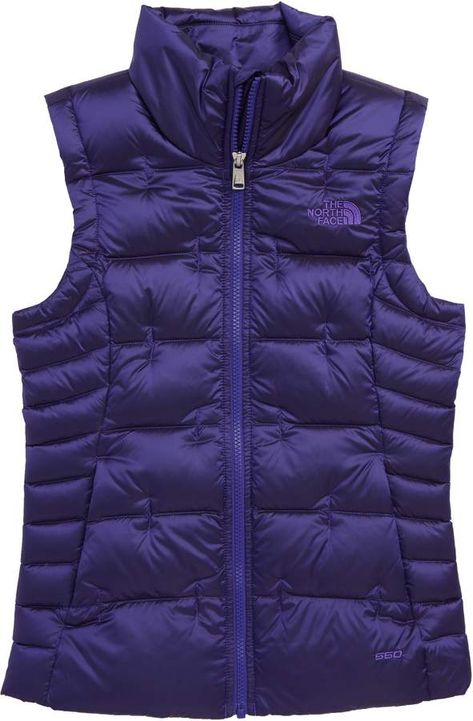 Girl's The North Face Aconcagua Down Vest, Size S (7-8) - Black