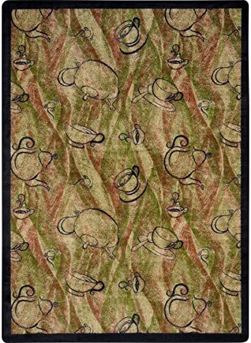 Beautiful Joy Carpets Kaleidoscope Fresh Brew Whimsical Area Rugs 64 Inch By 92 Inch By 0 36 Inch Hazelnut Home Animal Skull Decor Solid Area Rugs Area Rugs