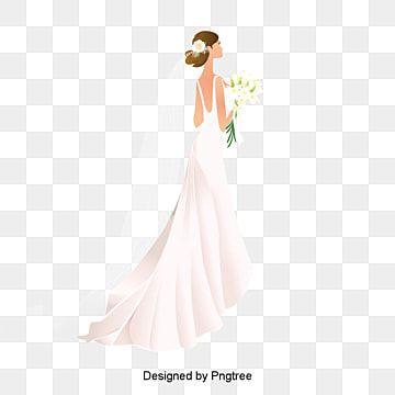 سعيد العروس العروس أبيض فستان الزفاف Png وملف Psd للتحميل مجانا Bride Clipart Light Blue Wedding Dress Bride