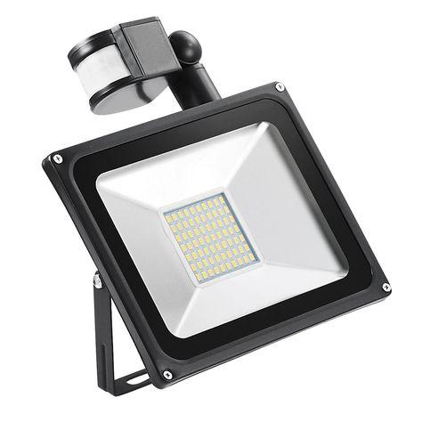 50w Searchlight Pir Motion Sensor Ac 220v Induction Led Flood Light Ip65 Waterproof Led Street Light Projector Outdoor Led Lamp With Images Led Flood Lights