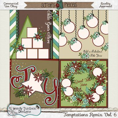 Temptations Remix Vol 6 Cu S4o S4h Pu Christmas Scrapbook Scrapbook Templates Scrapbooking Layouts